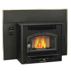 US Stove 44.25 in. 2000 sq. ft. Multi-Fuel Fireplace Insert