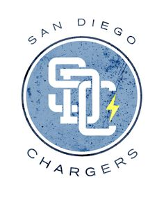 San Diego Chargers' logo redesigned by Wes Kull