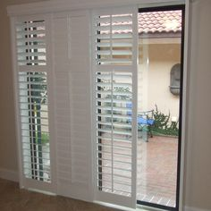 Sliding Shutters Modernize Your Sliding Glass Patio Door And Are A Great  Alternative To Vertical Blinds