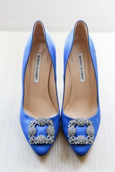 Blue Manolo Blahniks | Style Me Pretty | Get ready, lovies, because there's a whole lot of pretty coming your way from this Chicago wedding. From the Bride's bejeweled Carolina Herrera gown, Manolo Blahnik shoes and stunning makeup from Nika Vaughan to Chicago History Museum's gorgeous garden and ballroom, this wedding, captured to perfection from Ann & Kam Photography & Cinema, is oh-so-lovely. See it […]