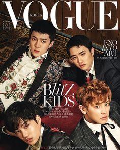 Chanyeol, D.O, Kai, and Sehun | EXO Vogue Korea April 2017 Cover