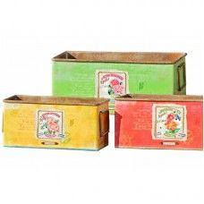 Ghivece tablă Kati set 3 buc L18-25 Decorative Boxes, Home Decor, Decoration Home, Room Decor, Interior Decorating