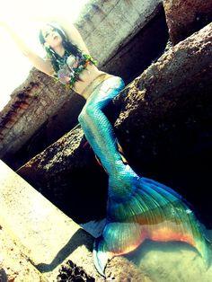 Beautiful realistic mermaid tails, handmade from silicone. http://www.merbellastudios.com/?page_id=9