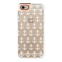 iPhone 6 Plus/6/5/5s/5c Metaluxe Case - White Anchor ($50) ❤ liked on Polyvore featuring accessories, tech accessories, phone cases, phones, iphone case, white iphone case, iphone cover case and apple iphone cases