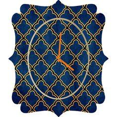 DENY Designs Arcturus Quatrefoil Clock | Wayfair
