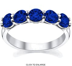 And my favorite, blue sapphires in platinum!  I wish they had a princes cut one, though...