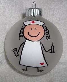 Check out this item in my Etsy shop https://www.etsy.com/listing/166968549/nurse-christmas-ornament-rn-christmas