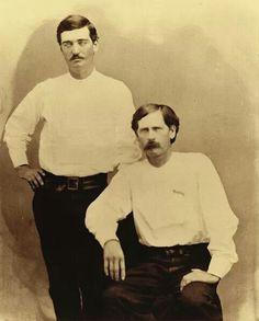 Bat Masterson, 23 and Wyett Earp,28.  Ford County Deputies  1876