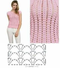 Best 11 Isabel Agorio's media content and analytics – SkillOfKing. Crochet Tunic Pattern, Baby Afghan Crochet Patterns, Crochet Diagram, Crochet Chart, Top Pattern, Crochet Pincushion, Broomstick Lace, Diy Crafts Crochet, Black Crochet Dress