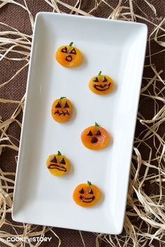 Healthy Halloween Treats: Easy Apricot Jack-o'-Lanterns