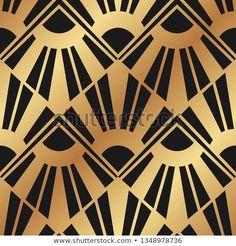 Vintage ornamental art deco retro seamless background and texture. Vector illustration can be used for wrapping paper, wallpapers, tiling, flooring, fabric, textile and other designs. Deco Retro, Texture Vector, Seamless Background, Tiling, Art Deco Fashion, Wrapping, Frames, Textiles, Wallpapers