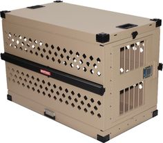 "48"" Collapsible (portable) heavy duty dog crate. The largest anywhere as far as we know. Largest crate the airlines will take. Escape Proof from www.carrymydog.com"