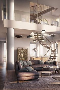 Rupert Mudroch's New - NY Penthouse - Style Estate - I would love to live in a penthouse!!! It's always been a secret dream of mine :)