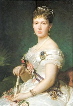 Infanta Isabel wears an A-line skirt with vee neckline above a pleated bodice and vee waistline in this well-known portrait. Posh People, Kingdom Of Naples, Bourbon, Spanish Royalty, Blue Bloods, Royal House, Royal Jewels, Family Portraits, Spain