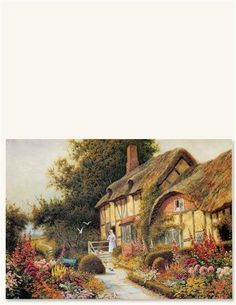 By Arthur Claude Strachan It is as Frances Hodgson Burnett wrote, ''As long as you have a garden you have a future and as long as you have a future you are alive. Framed Art Prints, Fine Art Prints, Victorian Trading Company, English Cottages, Country Cottages, My Dream Home, Art Images, Creepy, Chalets