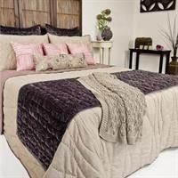 Waves Comforter Set with Regal Bed Runner & matching Euros