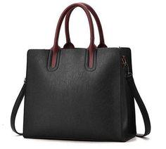 Herald Fashion PU Leather Women s Handbags PU Leather Female Handbags  Designer Casual Tote Luxury Solid Lady s Crossbody Bags 8eeec038e63cc