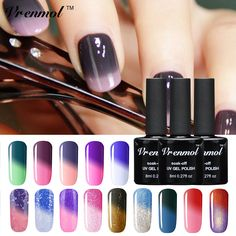 Vrenmol 1pcs Temperature Color Changing Soak Off UV Gel Colors Verniz Lacquer Thermal Mood Changing Gel Nail Polish #>=#>=#>=#>=#> Click on the pin to check out discount price, color, size, shipping, etc. Save and like it!