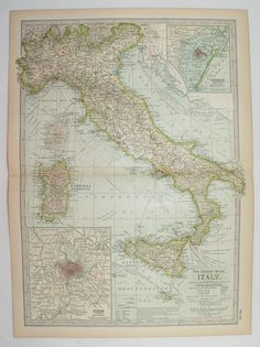 Johnston Italy Map Spain Portugal Map Antique Map Of Italy - Portugal italy map