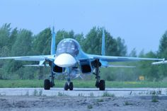 """Russian Air Force (VVS) Sukhoi Su-34 """"Fullback"""" bomber. One of 3 delivered in 2014. Russian airforce envisages a fleet of between 150  200 Su-34s, depending on budget constraints."""