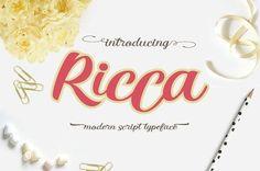 Ricca Script by Rabbittype on @creativemarket