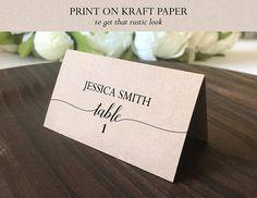 Place Card Template Printable escort card Printable Name