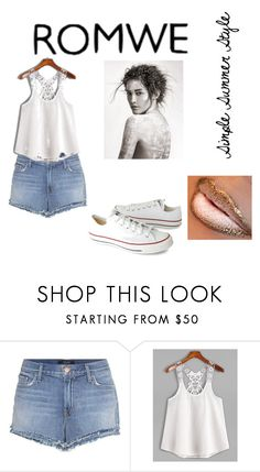 """Simple Summer Style"" by rmauschenfangs ❤ liked on Polyvore featuring J Brand and Converse"