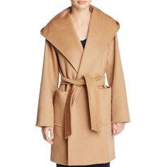 Max Mara Rialto Wrap Coat ($2,490) ❤ liked on Polyvore featuring outerwear, coats, camel, wrap coat, hooded coat, camel coat, maxmara and hooded wrap coat