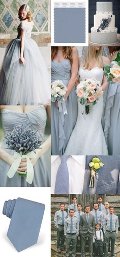 Wedding Inspiration in Dusty Blue | #EndoraJewellery - Custom Swarovski crystal jewelry