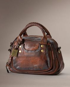 Elaine Vintage Satchel - Bags & Accessories_Bags_Satchel - The Frye Company Leather Satchel, Leather Purses, Leather Handbags, Leather Bags, Leather Backpacks, Gucci Purses, Purses And Handbags, Best Bags, Charms