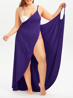 online shopping for Fadalo Plus Size Spaghetti Strap Cover Up Beach Backless Wrap Long Dress from top store. See new offer for Fadalo Plus Size Spaghetti Strap Cover Up Beach Backless Wrap Long Dress Plus Size Dresses, Plus Size Outfits, Beach Dresses, Summer Dresses, Summer Outfits, Lounge Dresses, Casual Outfits, Diy Outfits, Hawaiian Dresses