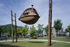 Mmmm treehouse? - well it is suspended lol  Terunobu Fujimori's otherworldly tree houses defy the laws of gravity: http://su.pr/2JxeOl