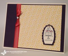 Stampin Up a Birthday cake card… Celebrate Good Times C'mon