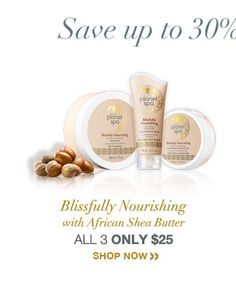 Blissfully Nourishing w/African Shea Butter! ALL 3 ONLY $25! Online orders only