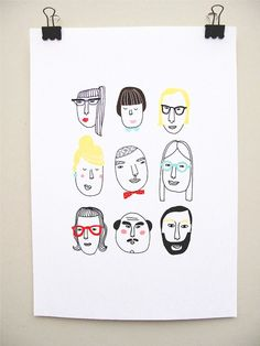 "kims little monsters: print ""Beatrice and the gang"""