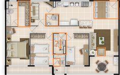 plantas de banheiros com closet 4