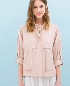 Soft jacket w/ pockets - Zara Zara Israel, Pastel Jacket, Zara New, Blazer Jackets For Women, Light Jacket, Look Fashion, Club Fashion, 1950s Fashion, Coats
