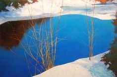 Landscape Paintings by David Lidbetter Watercolor Landscape, Abstract Landscape, Landscape Paintings, Tom Thomson, Large Scale Art, Classical Art, Winter Art, Russian Art, Contemporary Landscape