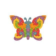 Puzzle Games For Toddlers Wood Butterfly Multicolored ATo Z Upper And Lower Case Wood Butterfly, Wooden Alphabet, Alphabet Letters, Cool Gifts For Kids, Games For Toddlers, Learning The Alphabet, No Plastic, Wooden Puzzles, Jigsaw Puzzles