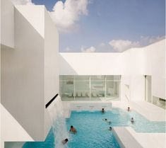 Waterfall pool white