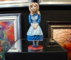 Alice in Wonderland sculpture by artist Kerry Darlington.  Available at Wyecliffe: http://wyecliffe.com/collections/kerry-darlington-art/products/kerry-darlington-alice-sculpture