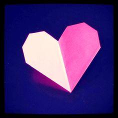 Lettre en forme de coeur et son enveloppe {DIY}