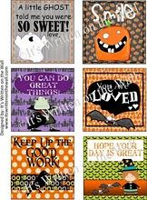 Halloween Lunchbox Love Notes by It's Written on the Wall.  www.itswrittenonthewall.com