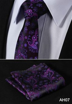 Item Type:Ties Department Name:Adult Style:Fashion Ties Type:Neck Tie Set Material:Silk Gender:Men Size:One Size Pattern Type:Paisley is_customized:Yes Place of Origin:Guangdong, China (Mainland) Tie And Pocket Square, Pocket Squares, Tie Pattern, Cool Ties, Skinny Ties, Sharp Dressed Man, Fashion Night, Suit And Tie, Violet
