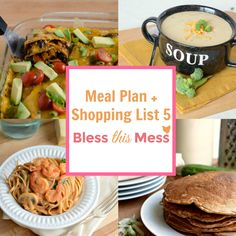 This free Meal Planner includes an enchilada bake, cheddar broccoli soup, linguine rosa, and more!