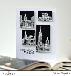 Altenew 2nd anniversary cards. Greetings from New York Card. Made by @s_shayevich