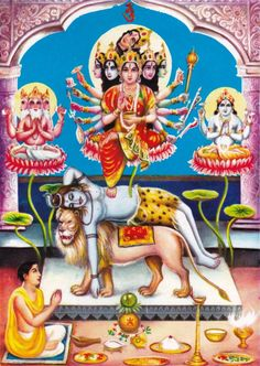 Kamakhya Devi Old Print, British era (via Kamakhya Dasha Mahavidya Sadhana)