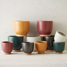 """A textured, chalky finish and vivid color lend cheerful appeal to this petite, earthenware urn, each one designed and crafted especially for terrain.- A terrain exclusive- Earthenware, padded foam feet- Indoor or outdoor use- Drainage hole not included- ImportedSmall: 5.25""""H, 5.2""""D, 5.5"""" exterior diameter at mouth, 5.2"""" interior diameter at mouth, 3.5"""" diameter at baseLarge: 7.5""""H, 7.12""""D, 7.75"""" exterior diameter at mouth, 6.5"""" interior diameter at mouth, 5.5""""diameter at base"""