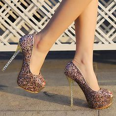 sapatos femininos espiar calcanhar toe stiletto bombas de sapatos – BRL R$ 153,87