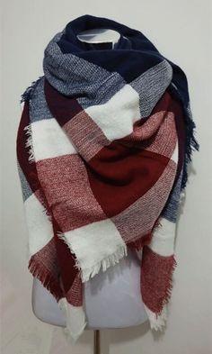 za Winter Tartan Scarf Desigua Plaid Scarf New Designer Unisex Acrylic Basic Shawls Women's Scarves Big Size scarf